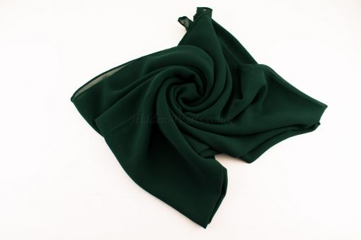 Chiffon Plain Forest Green 2
