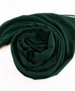 Chiffon Plain Forest Green