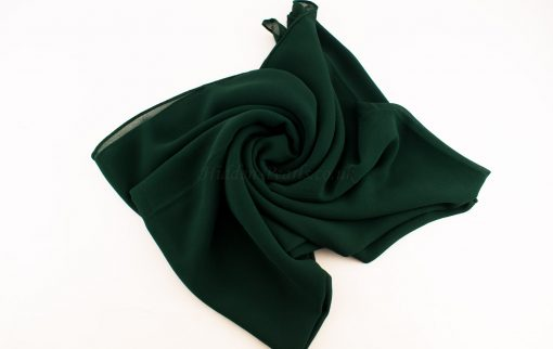 Chiffon Plain Forest Green 3
