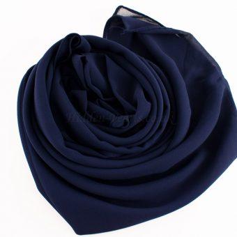 Chiffon Plain midnight blue