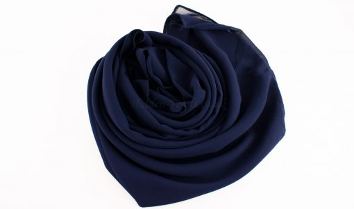 Chiffon Plain midnight blue