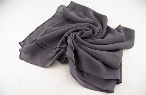 Chiffon Plain Grey