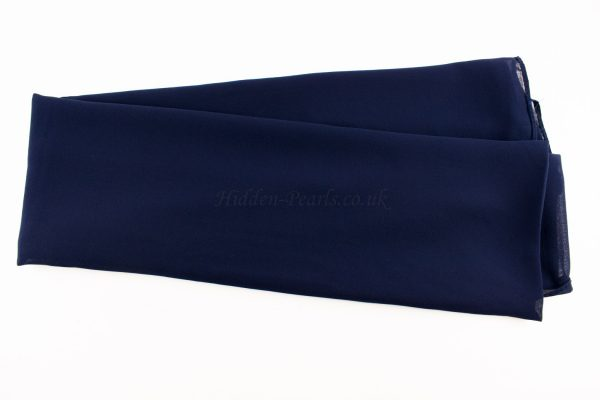 Chiffon Plain Navy Blue 2