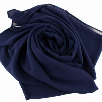 Chiffon Plain Navy Blue 3