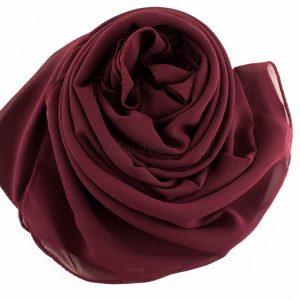 Chiffon Plain Rose wood 2