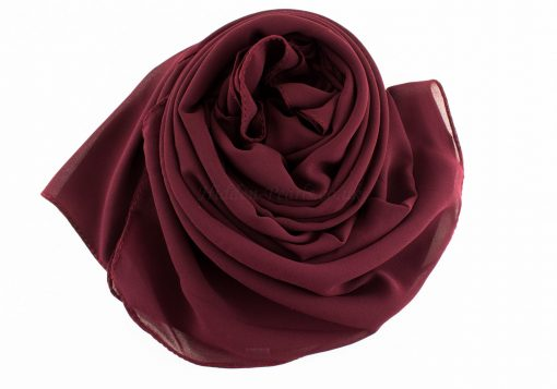 Chiffon Plain Rose wood 2