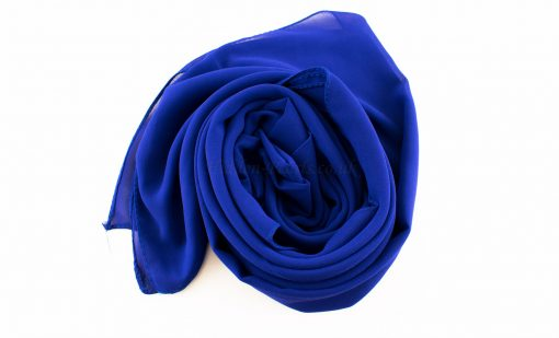 Chiffon Plain Royal Blue 2