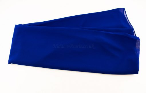Chiffon Plain Royal Blue 3