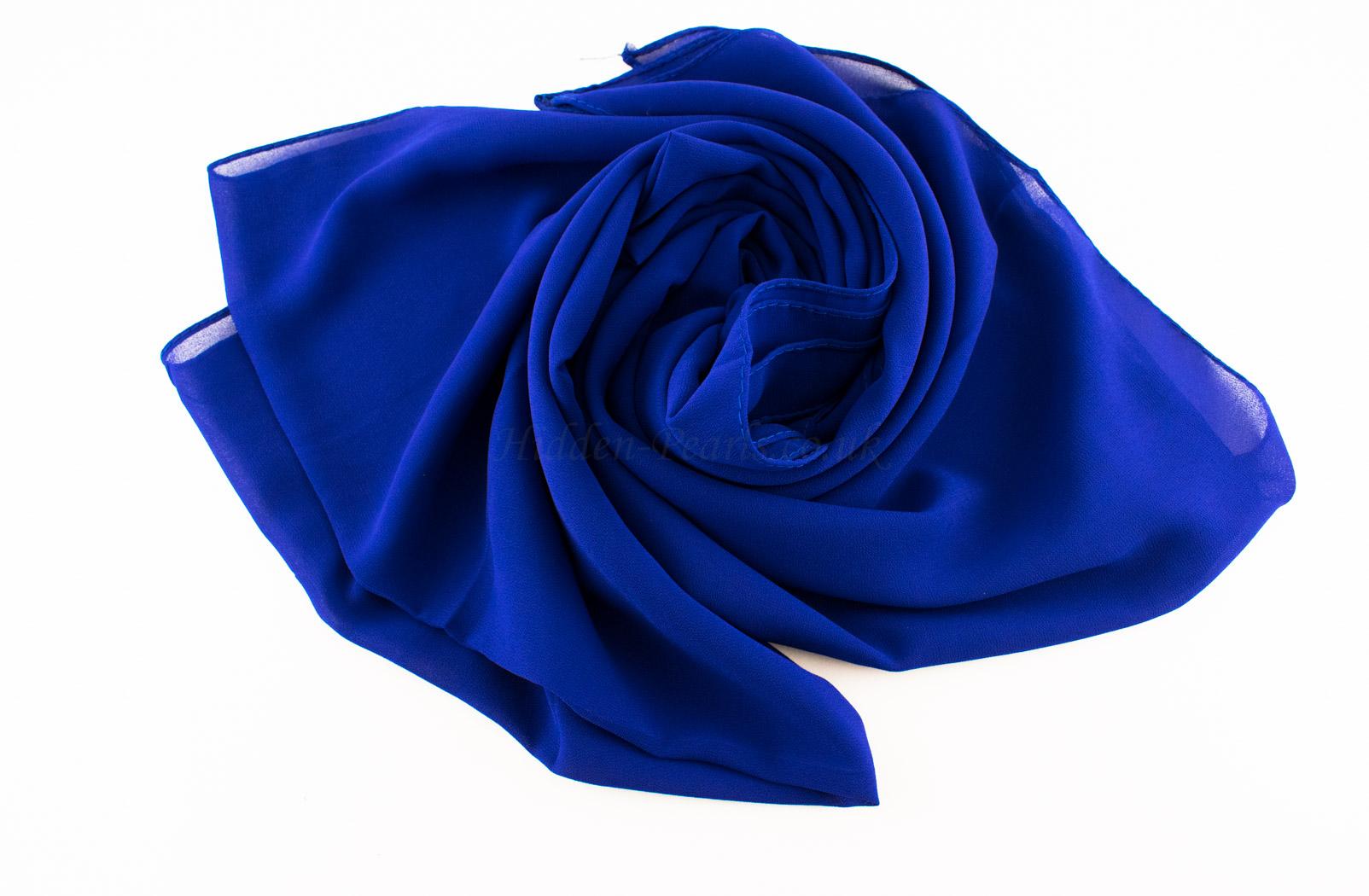 Chiffon Plain Royal Blue