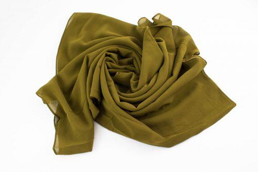 Chiffon hijab Olive 7