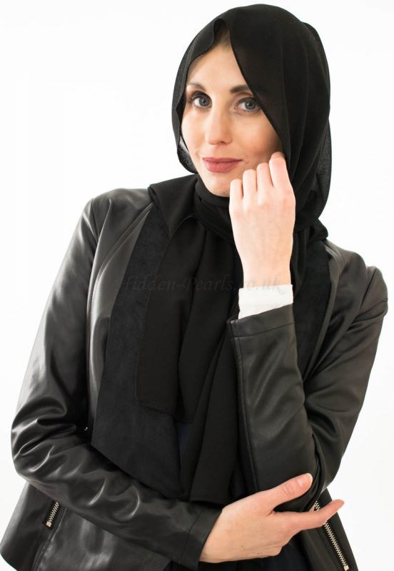 Everyday Chiffon Hijab - Black - Hidden Pearls