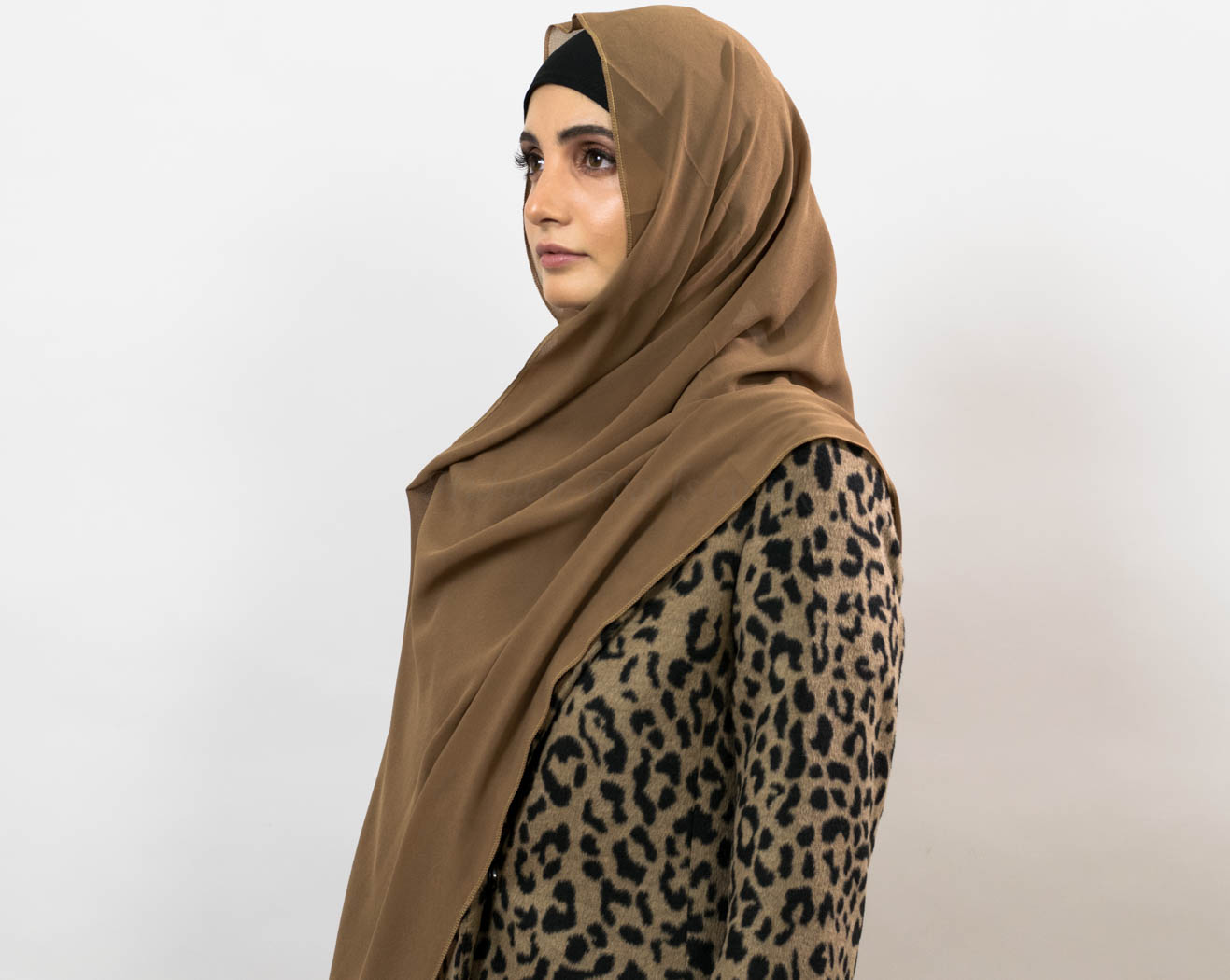 Everyday Chiffon Hijab - Mocha 3 - Hidden Pearls copy