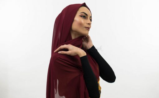 Everyday Chiffon Hijab Rosewood 7 copy
