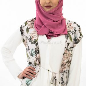 Everyday Chiffon Hijab - Spanish Pink - Hidden Pearls