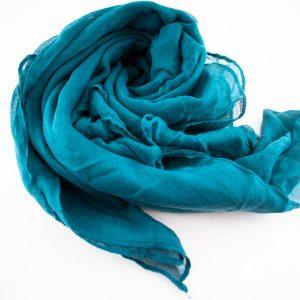 Everyday Plain Hijab Teal Blue 3