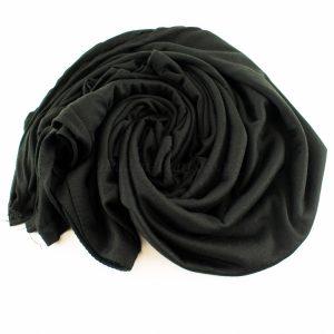 Jersey Plain Black Hijab 3