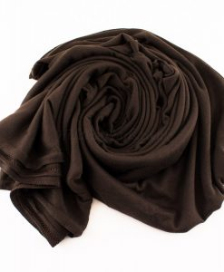 Jersey Plain Chocolate Hijab 3