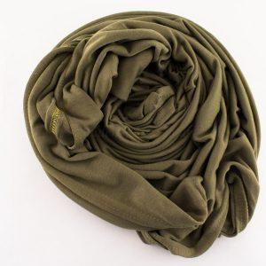 Jersey Plain Olive Hijab 3