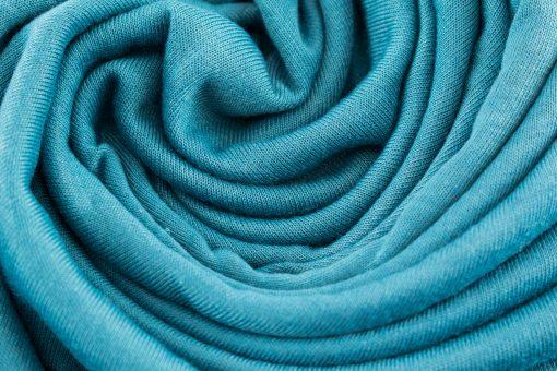 Jersey Plain Teal Hijab 2