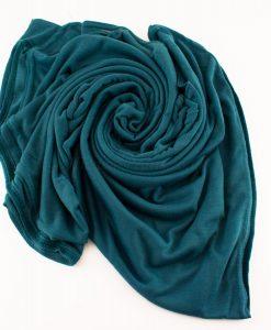 Jersey Plain Teal Hijab 3