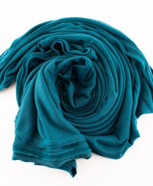 Jersey Plain Teal Hijab