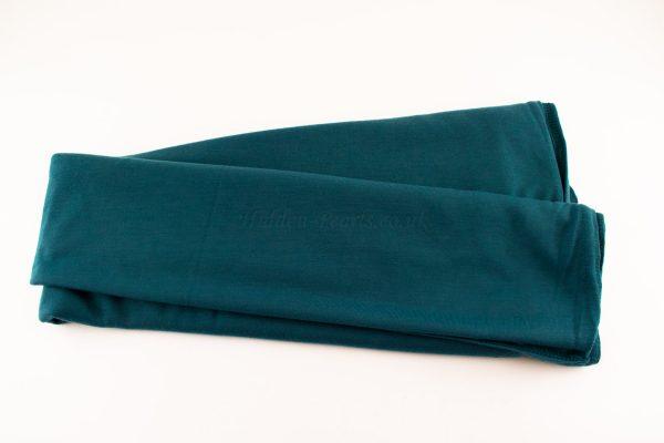 Jersey Plain Teal Hijab 4
