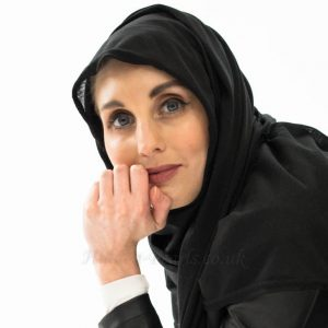 Jersey Plain Hijab - Black - Hidden Pearls