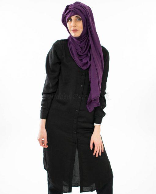 Jersey Plain Hijab - Purple - Hidden Pearls