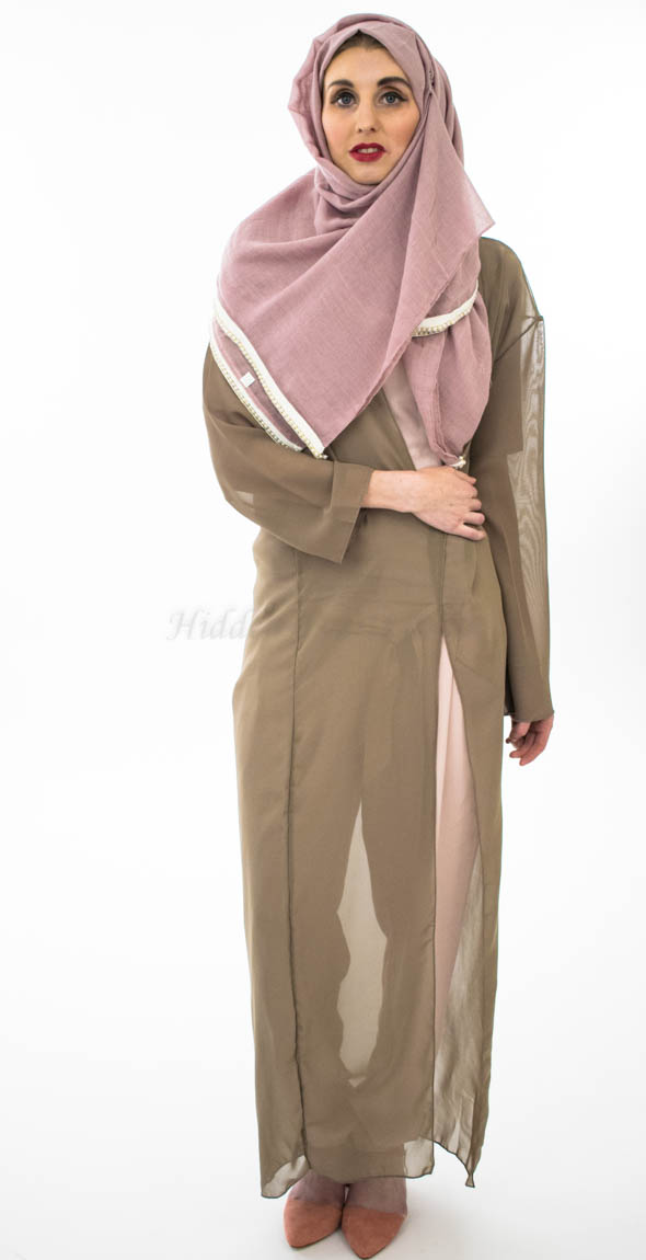 Pearl & Lace Hijab - Dusty Pink - Hidden Pearls