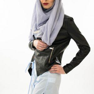 Pearl & Lace Hijab - Sky Blue - Hidden Pearls 2