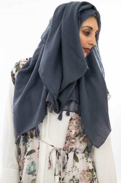 Tassel Hijab - Grey - Hidden Pearls 2