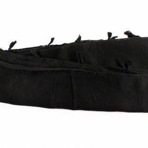 Tassels Black Hijab