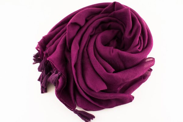 Tassels Blackcurrent Hijab 4