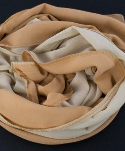 Fusion Chiffon Scarf Cream & Golden Brown