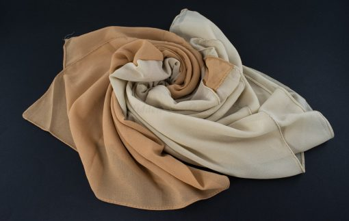 Fusion Chiffon Scarf Cream & Golden Brown 5