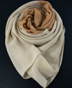 Fusion Chiffon Scarf Cream & Golden Brown 6