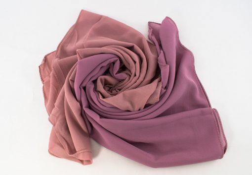 Fusion Chiffon Scarf Dusky pink & Spanish Pink 2