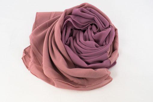 Fusion Chiffon Scarf Dusky pink & Spanish Pink 3