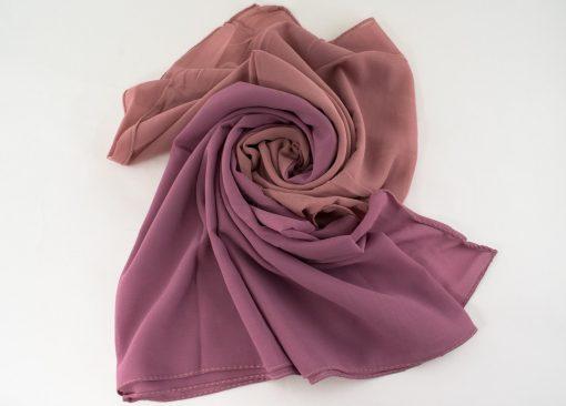 Fusion Chiffon Scarf Dusky pink & Spanish Pink