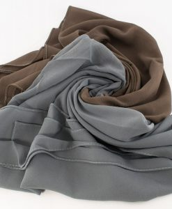 Fusion Chiffon Scarf Grey & Taupe Brown