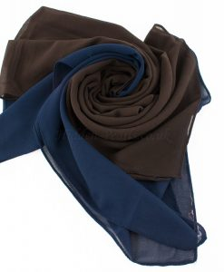 Fusion Chiffon Scarf Midnight blue & chocolate