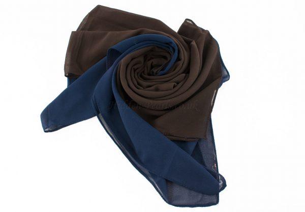 Fusion Chiffon Scarf Midnight blue & chocolate