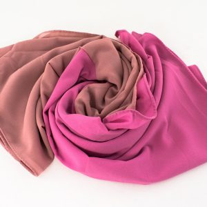 Fusion Chiffon Scarf Pink & Spanish Pink 2