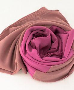 Fusion Chiffon Scarf Pink & Spanish Pink 3
