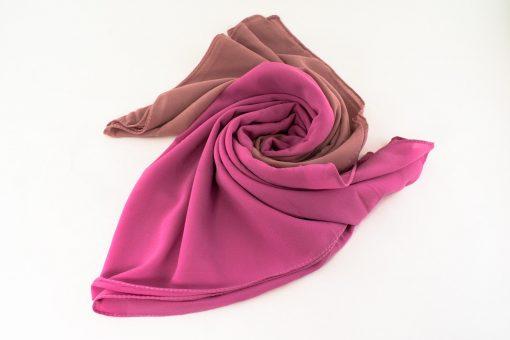Fusion Chiffon Scarf Pink & Spanish Pink 4