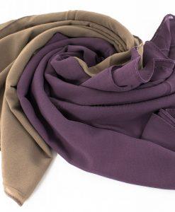 Fusion Chiffon Scarf Purple & Hazlenut