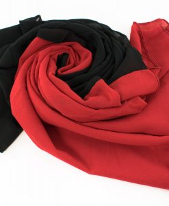 Fusion Chiffon Scarf Red & Black 2