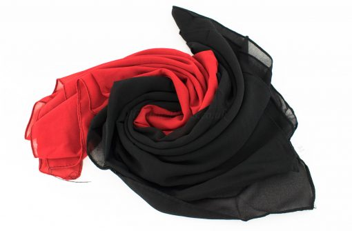 Fusion Chiffon Scarf Red & Black 5