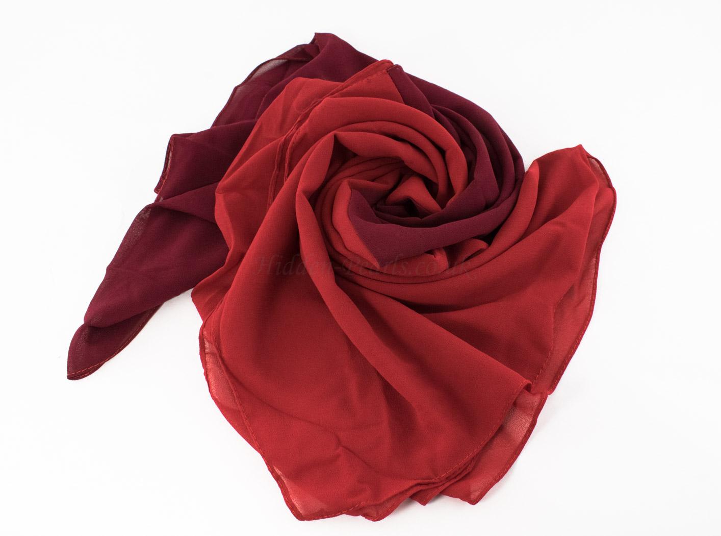 Fusion Chiffon Scarf Red & Garnet 2