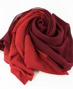 Fusion Chiffon Scarf Red & Garnet